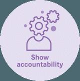 Show accountability